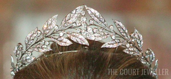 26 Oct 2004: The Duchess of Brabant wears the Laurel Wreath Tiara at Laeken Castle