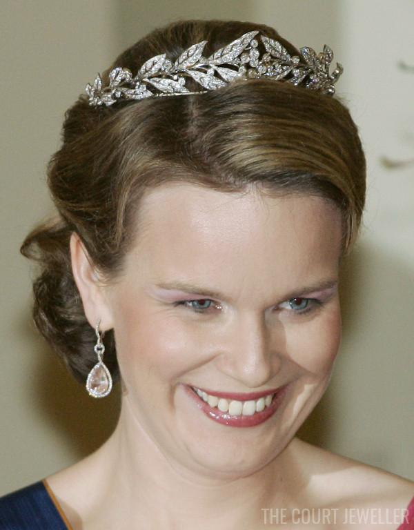 20 Mar 2007: The Duchess of Brabant wears the Laurel Wreath Tiara at Laeken Castle